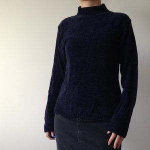 American Connection - Soft Chenille Blue Sweater